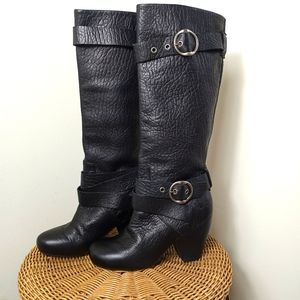 Lucky Brand Candice Pebbled leather tall boots 8.5